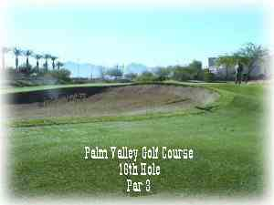 Front view of hole #16